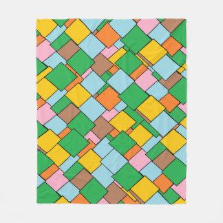 Cobertor De Velo Cobertura geométrica colorida do velo do teste