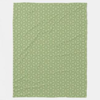 Cobertor De Velo Cobertura geométrica de Caleidoscopic da folha