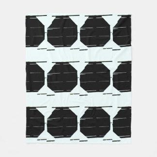 Cobertor De Velo Cobertura gráfica preta minimalista