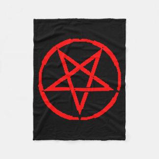 Cobertor De Velo Cobertura invertida do velo do Pentagram