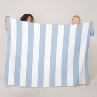 Cobertor De Velo Cobertura listrada do azul de pó e a branca do