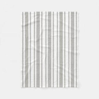 Cobertor De Velo Cobertura listrada do cinza & a branca