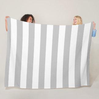Cobertor De Velo Cobertura listrada do cinza e a branca do velo