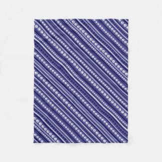 Cobertor De Velo Cobertura listrada do impressão Azul-e-Branco da