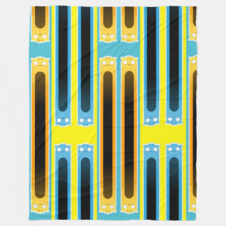 Cobertor De Velo Cobertura listrada do velo do gato azul do