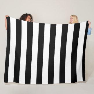 Cobertor De Velo Cobertura listrada preto e branco do velo