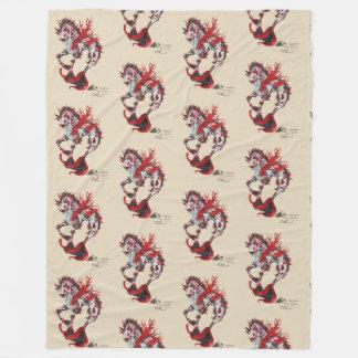 Cobertor De Velo Cobertura mágica do cavalo marinho do cavalo do