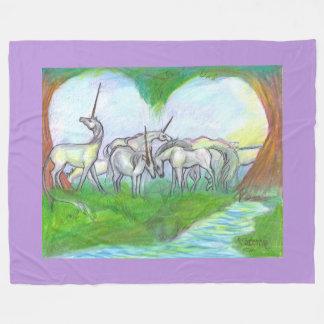 Cobertor De Velo Cobertura mágica do rebanho do coração do cavalo