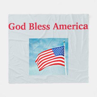 Cobertor De Velo Cobertura média do velo de América dos deus
