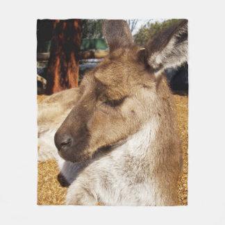 Cobertor De Velo Cobertura média do velo do canguru sonolento de