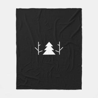 Cobertor De Velo Cobertura minimalista preta das árvores