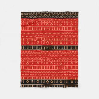 Cobertor De Velo Cobertura moderna vermelha e preta de Mudcloth