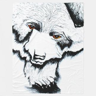 Cobertor De Velo Cobertura morna grande do velo do urso preto
