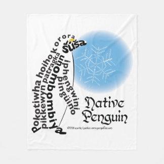 Cobertor De Velo Cobertura nativa do velo do pinguim