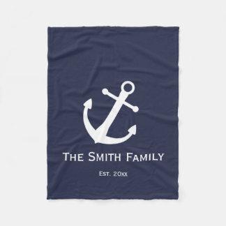Cobertor De Velo Cobertura náutica azul e branca feita sob