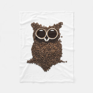 Cobertor De Velo Cobertura pequena do velo da coruja do café