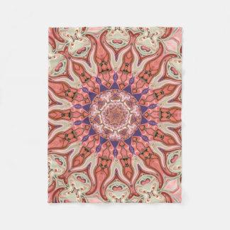 Cobertor De Velo Cobertura pequena do velo da mandala dos rosa do