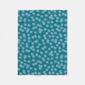 Cobertor De Velo Cobertura pequena do velo das bolinhas azuis