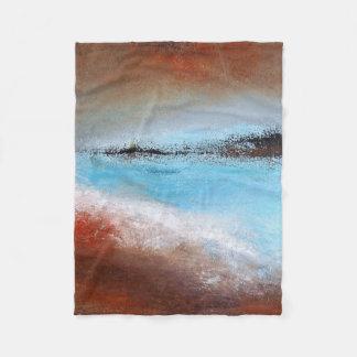 Cobertor De Velo Cobertura pequena do velo do abstrato de turquesa