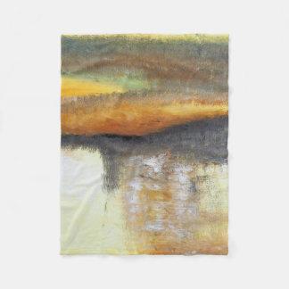 Cobertor De Velo Cobertura pequena do velo do abstrato do ouro