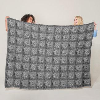 Cobertor De Velo Cobertura pequena do velo do azulejo do vintage do
