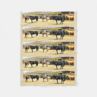 """Cobertor De Velo Cobertura pequena do velo """"quatro cavalos e um"""
