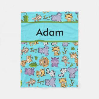 Cobertor De Velo Cobertura personalizada da selva de Adam