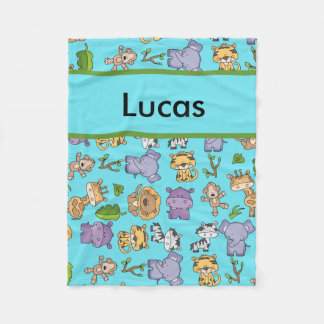 Cobertor De Velo Cobertura personalizada da selva de Lucas