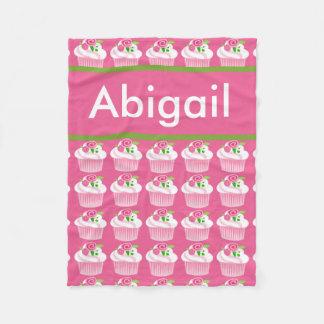 Cobertor De Velo Cobertura personalizada do cupcake de Abigail