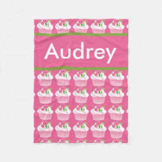 Cobertor De Velo Cobertura personalizada do cupcake de Audrey