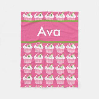 Cobertor De Velo Cobertura personalizada do cupcake de Ava