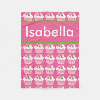 Cobertor De Velo Cobertura personalizada do cupcake de Isabella
