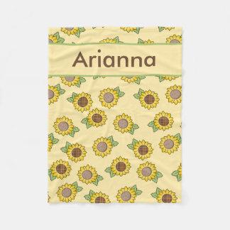Cobertor De Velo Cobertura personalizada do girassol de Arianna