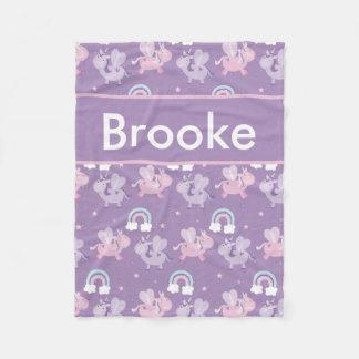 Cobertor De Velo Cobertura personalizada do unicórnio de Brooke