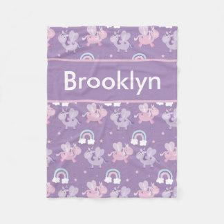 Cobertor De Velo Cobertura personalizada do unicórnio de Brooklyn