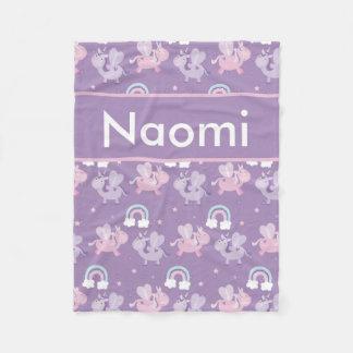 Cobertor De Velo Cobertura personalizada do unicórnio de Naomi