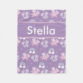 Cobertor De Velo Cobertura personalizada do unicórnio de Stella