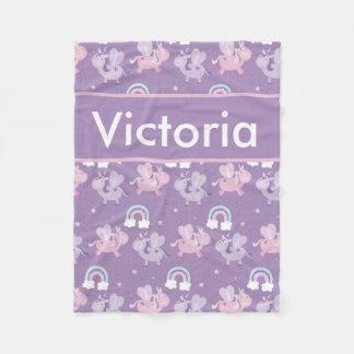 Cobertor De Velo Cobertura personalizada do unicórnio de Victoria