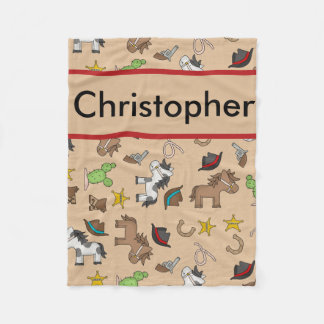 Cobertor De Velo Cobertura personalizada do vaqueiro de Christopher