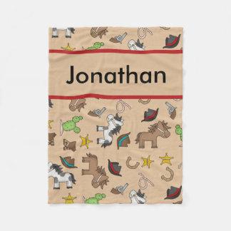 Cobertor De Velo Cobertura personalizada do vaqueiro de Jonathan