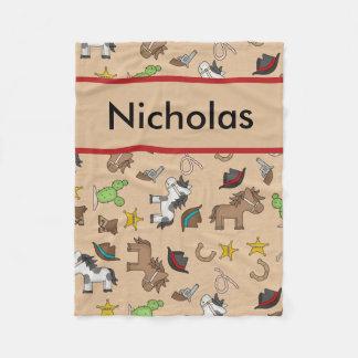 Cobertor De Velo Cobertura personalizada do vaqueiro de Nicholas