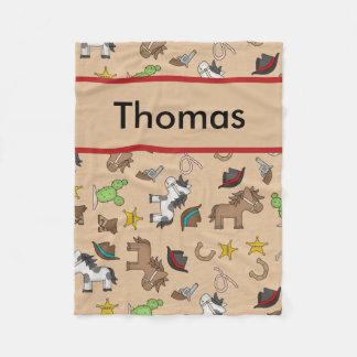 Cobertor De Velo Cobertura personalizada do vaqueiro de Thomas
