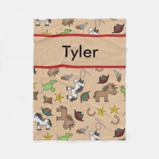 Cobertor De Velo Cobertura personalizada do vaqueiro de Tyler