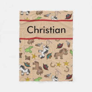 Cobertor De Velo Cobertura personalizada do vaqueiro do cristão