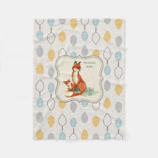 Cobertor De Velo Cobertura personalizada ideia do Fox do presente