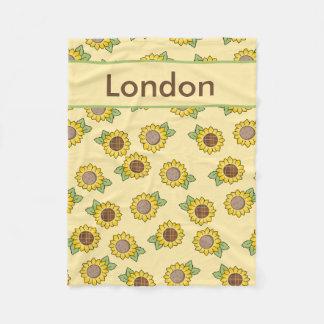 Cobertor De Velo Cobertura personalizada s do girassol de Londres