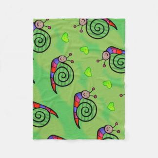 Cobertor De Velo Cobertura polar caracol sobre fundo verde