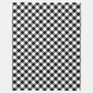Cobertor De Velo Cobertura preto e branco do velo da xadrez do