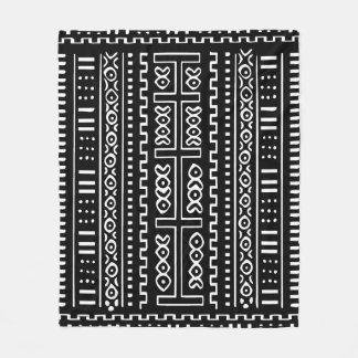 """Cobertor De Velo Cobertura preto e branco do velo de Mudcloth, 50"""""""