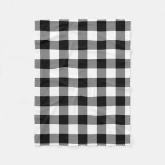 Cobertor De Velo Cobertura preto e branco do velo do teste padrão